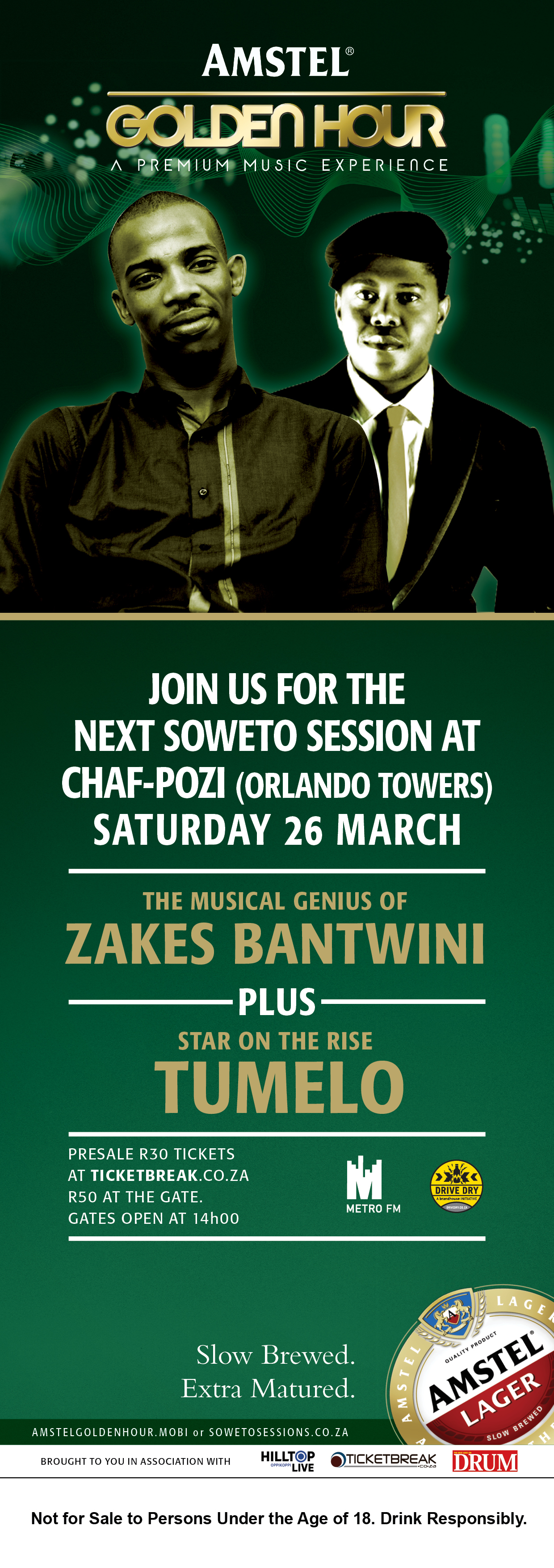 Zakes @Amstel Soweto Sessions