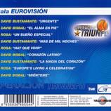 Artist: Operacion Triunfo (Rosa de España) Album: Gala Eurovision Label: Vale Music Song 'Hay Que Vivir' Lyric adaptation Alex Warner Composed by Emilio Alquezar