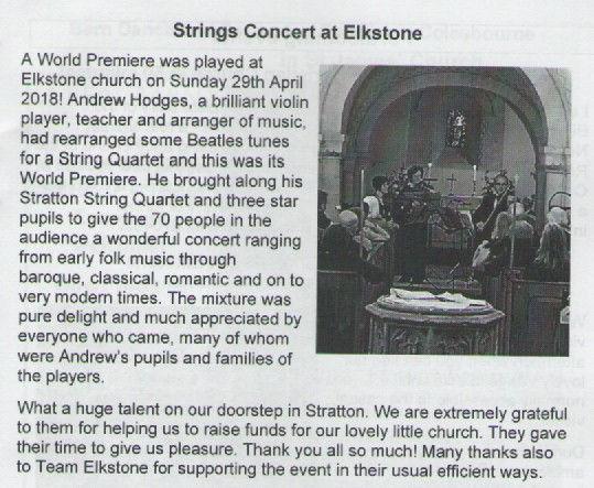 review of April 2018 Concert in Parish M