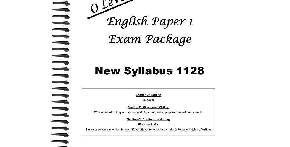 O Levels English Paper 1 Exam Package
