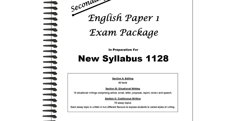 Secondary 2 English Paper 1 Exam Package