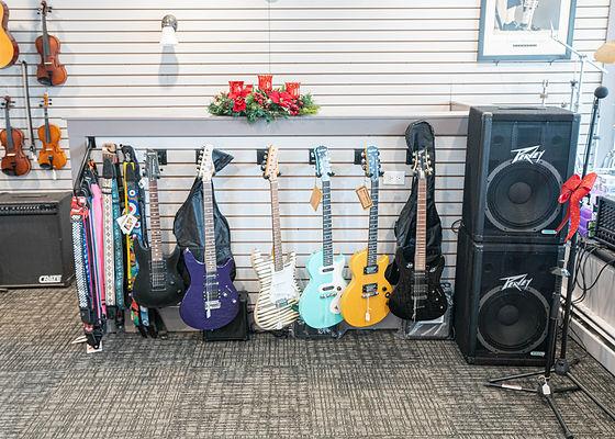 Wall of guitars at Matts