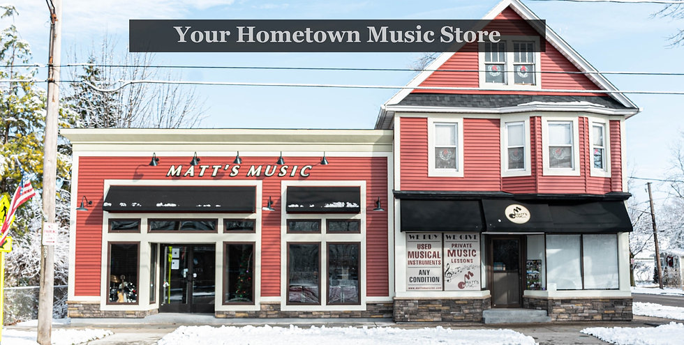 Matt's Music Storefront
