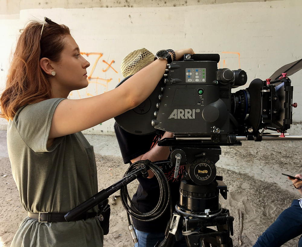 Anna with a camera on set of I JUST WANTED TO SEE YOU