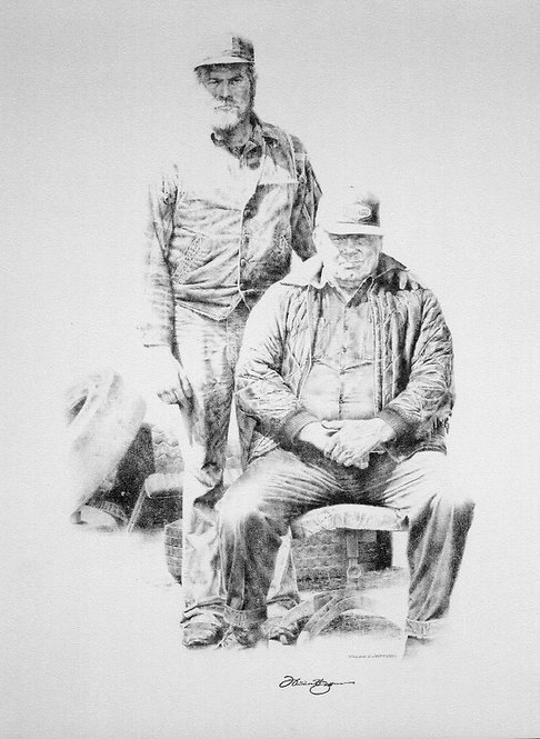 """""""Irv and Jim"""" Lithograph - Artist: WH Jefferson"""