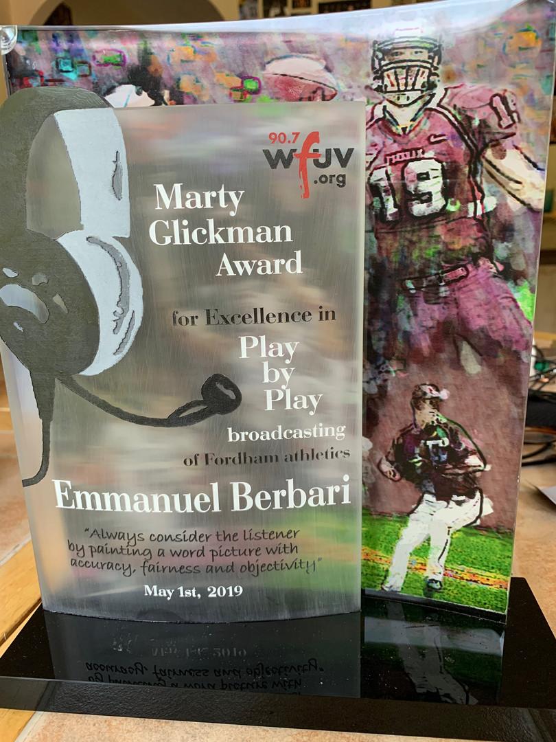 2019 Marty Glickman Award