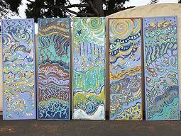 door panel murals