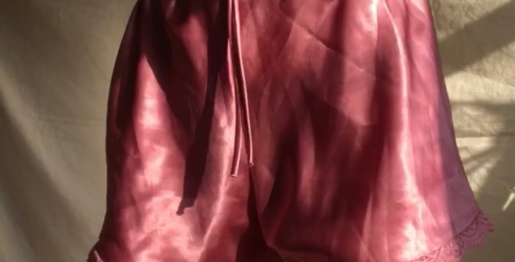 Bubblegum Pink Satin Sleep Shorts