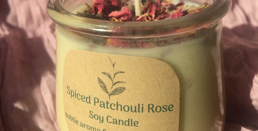 Spiced Patchouli Rose Soy Candle
