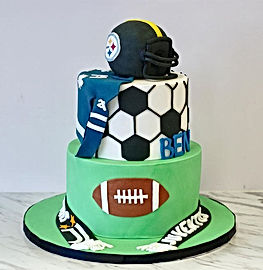 This sports cake is getting us in the mo