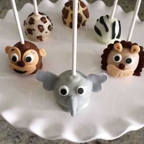 Safari Animals and Animal Print Cake Pop