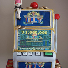 Cha Ching ! Custom Casino Cake we made s