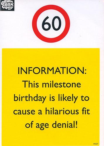 60 Warning