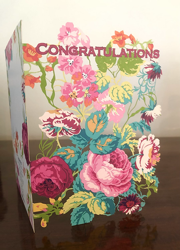 Congratulations Die Cut Flowers.