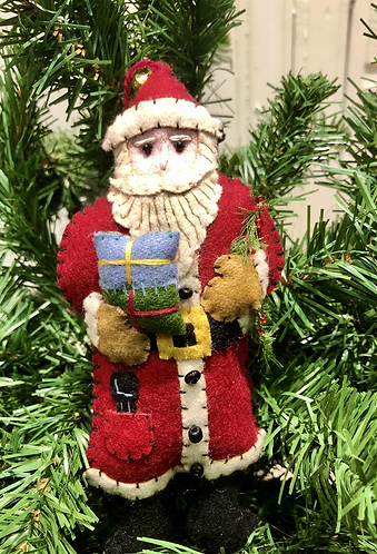 Felt Santa Claus and Wreath
