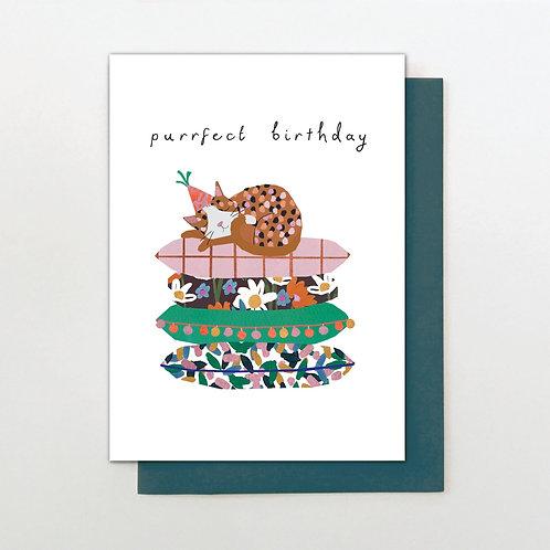 Purrfect Birthday Card