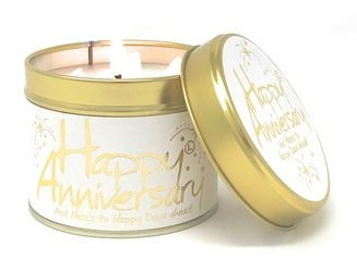 Happy Anniversary Lily Flame Candle