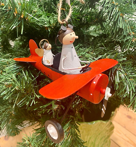 Pilot & Angel in Plane Decoration