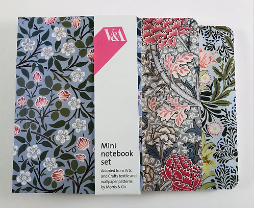 Set of 3 notebooks William Morris designs