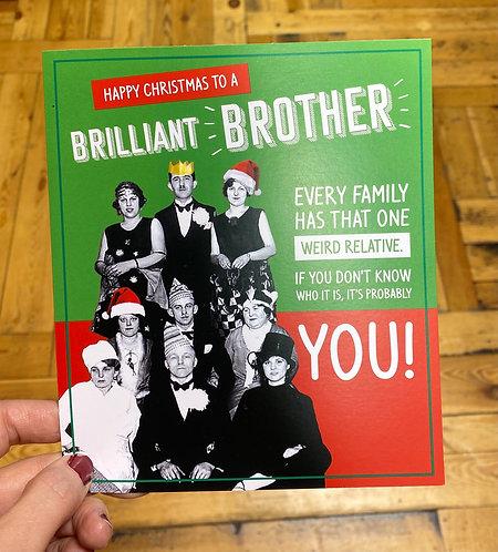 Christmas Card Brother Weird Relative