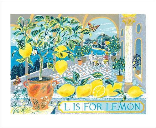 L is for Lemon Card
