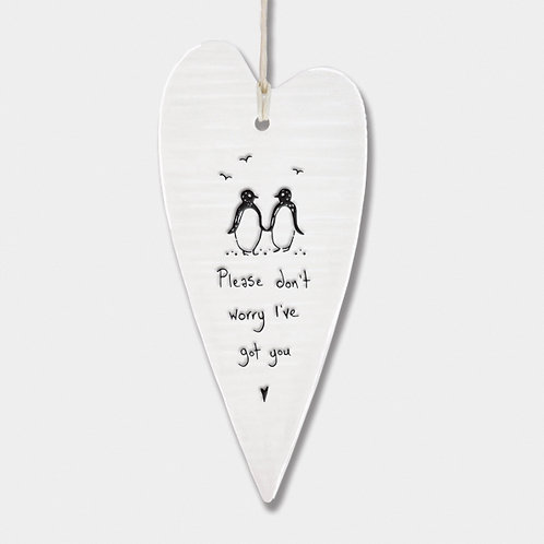 Porcelain Hanger - Don't Worry