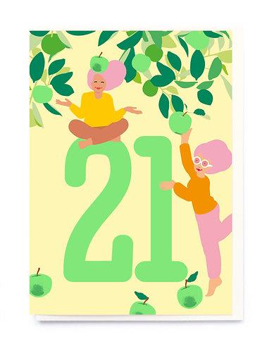Age 21 Card