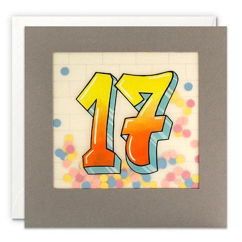 Age 17 Graffiti Card
