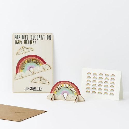Pop-Out Rainbow Card