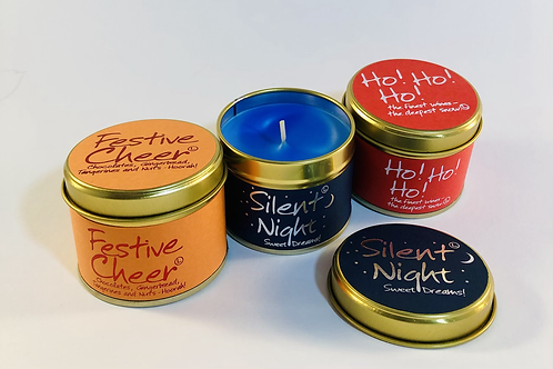 Lily Flame Scented Candles 3 tins, Christmas 3