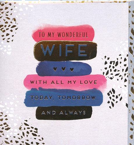 Wife, to a wonderful..