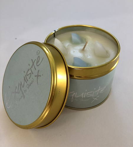 Lily Flame Scented Candle Tin, Exquisite Fragrance.
