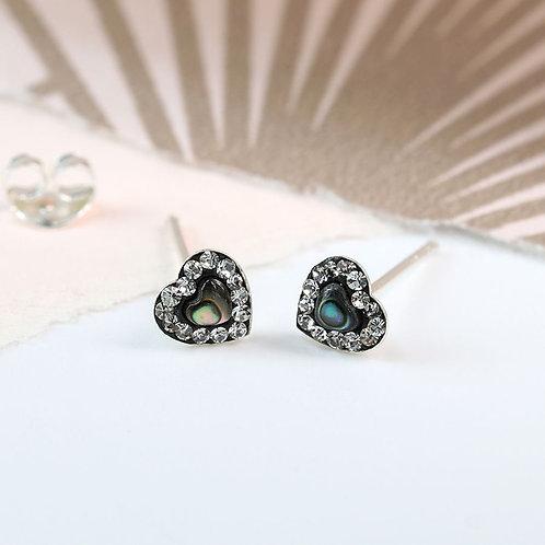 Tiny Heart shaped Stud earrings