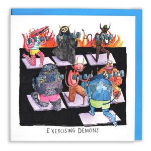 Exercising Demons Card