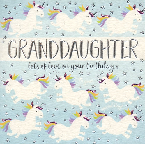 Granddaughter with Lots of Love on your Birthday