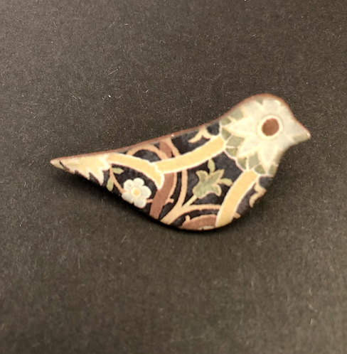 Ceramic Bird Brooch.
