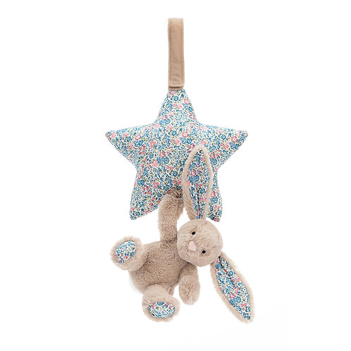 Jellycat Blossom Beige Bunny Star Musical Pull
