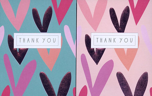 Pack of 8 Thank you cards.