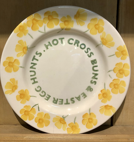 Hot Cross Bun 8 1/2 inch plate.