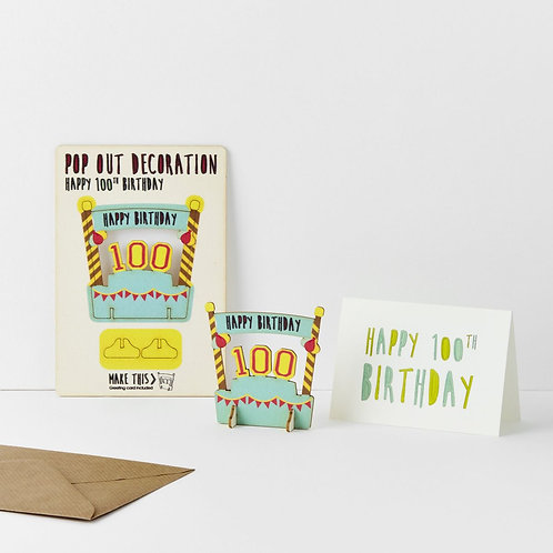 Pop-Out 100th Birthday Card