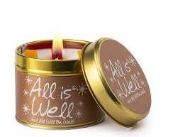 All is Well Lily Flame Candle