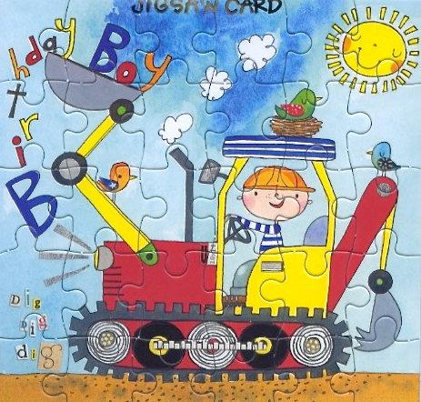 Birthday Boy Jigsaw Card