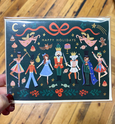 Christmas Card Single Rifle Paper Nutcracker