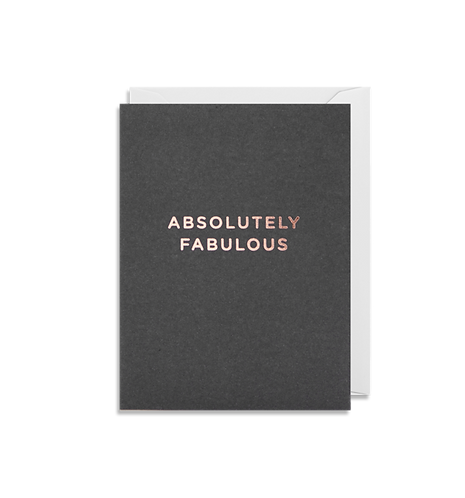 Absolutely Fabulous Mini Card