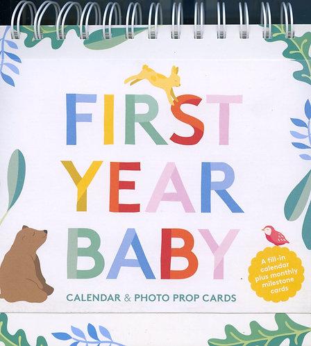 Baby's first year calendar.