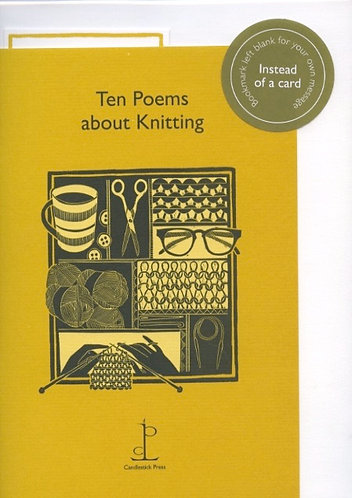 Knitting Poems instead of a card