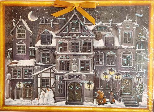 Advent Calendar Christmas Town Night