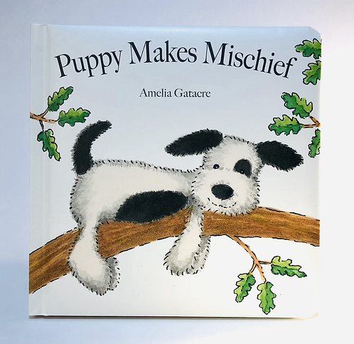 Jellycat Book, Puppy makes Mischief by Amelia Gatacre.
