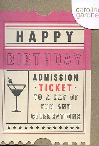 Happy Birthday Ticket.