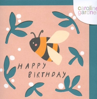 Die cut Card Bee.